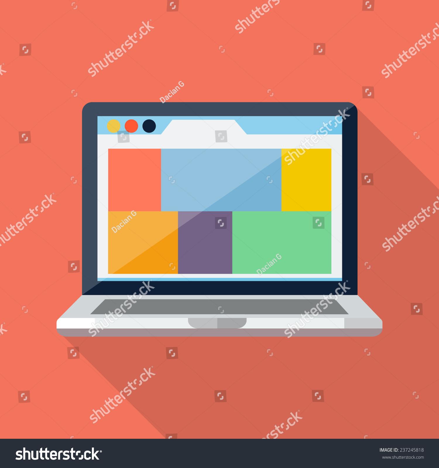 笔记本电脑图标-科技,符号/标志-海洛创意(hellorf)