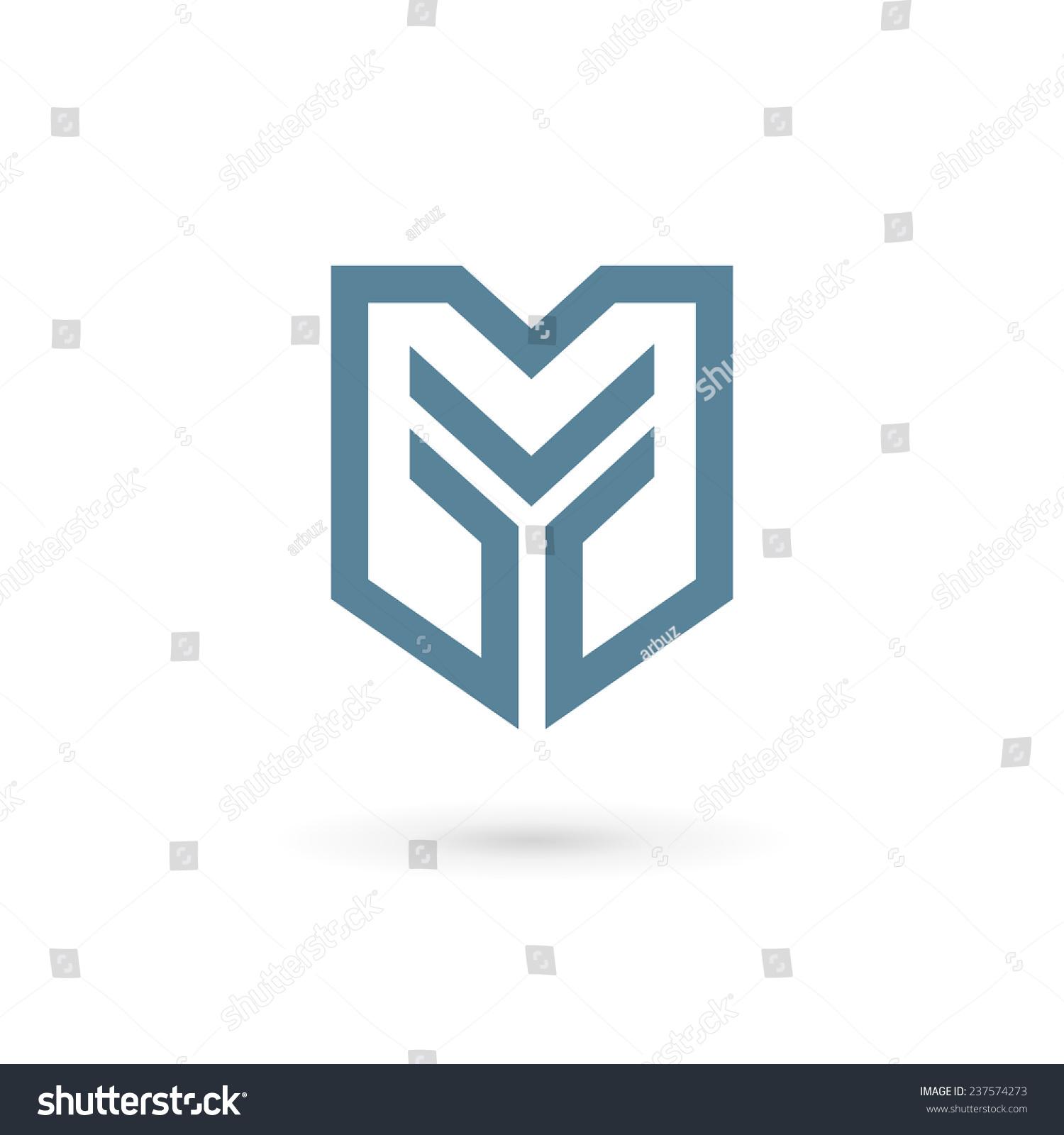 字母y盾牌标志图标设计模板元素-符号/标志,抽象-海洛