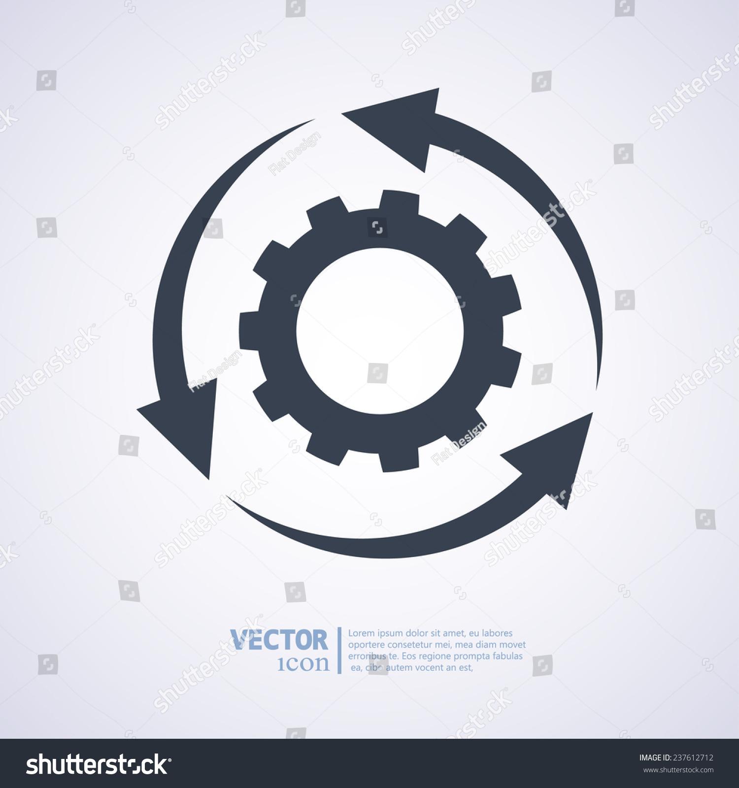 设置参数,循环箭头图标,矢量图.平面设计风格-科技