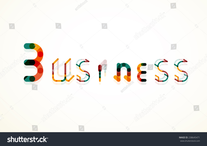 商務關鍵字字體,最小線設計-科技,符號/標志-海洛創意