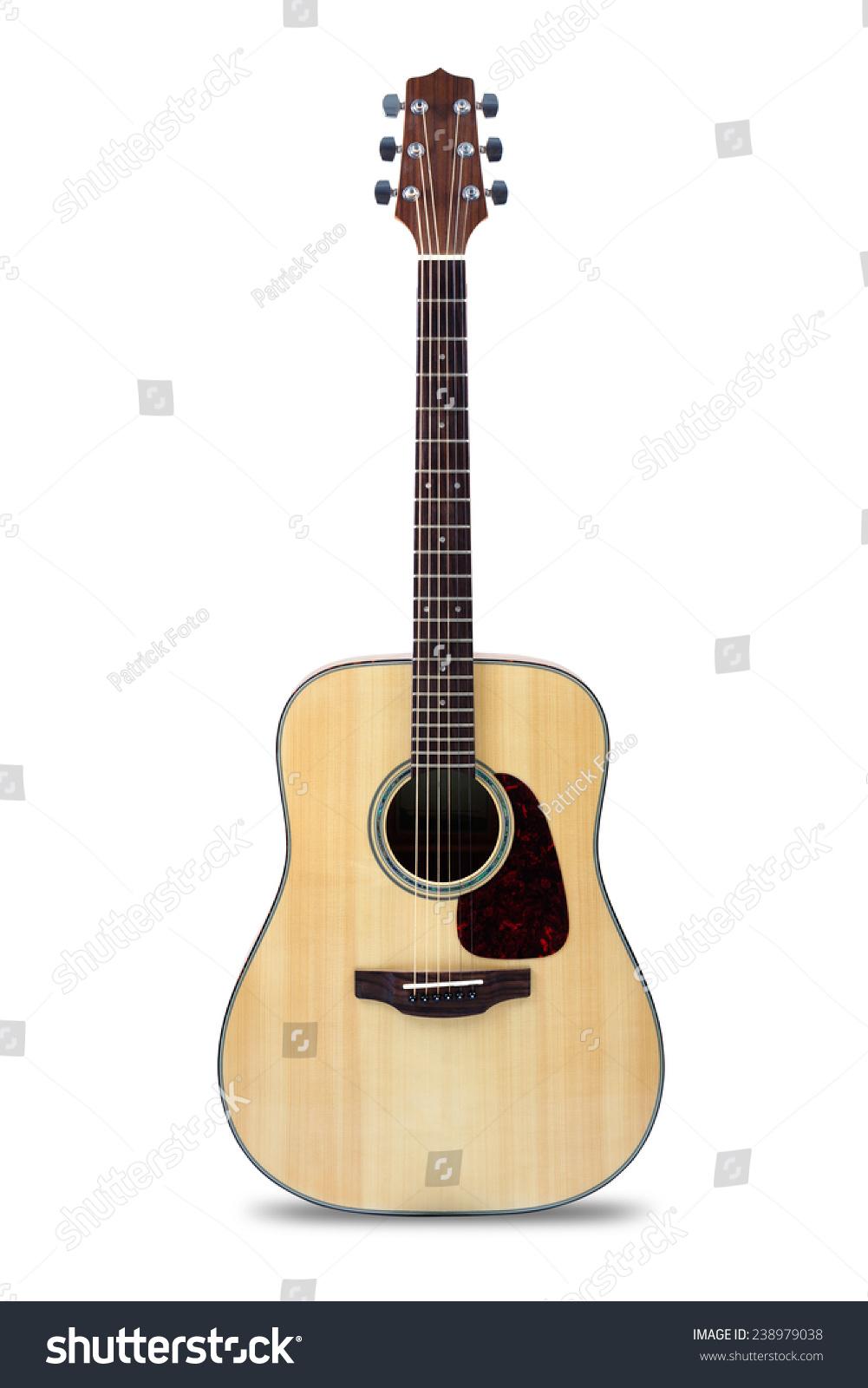 木吉他,孤立在白色的