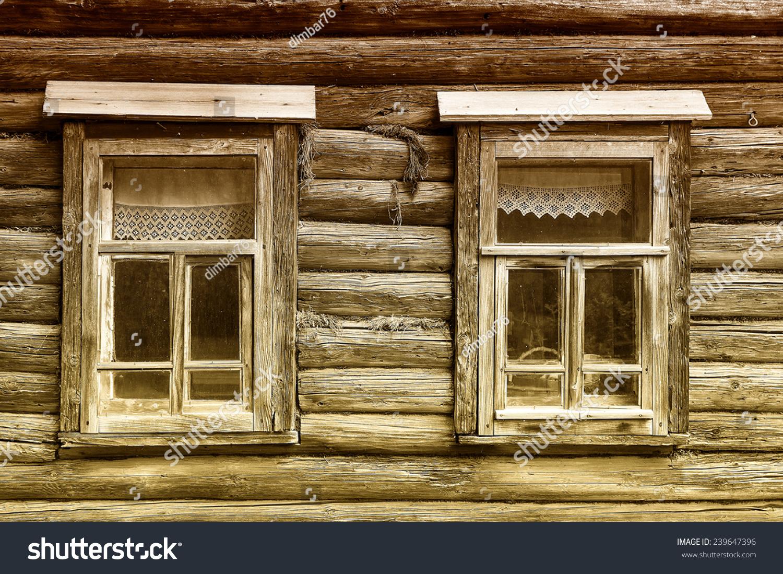 俄罗斯的古木房子-建筑物/地标,背景/素材-海洛创意()