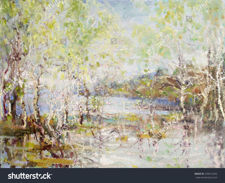 油画,风景,湖泊,-艺术,自然-海洛创意(hellorf)-中国