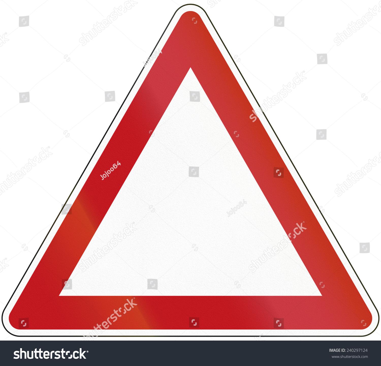 三角形模板作为一个基地,各种交通和警告标志.-符号