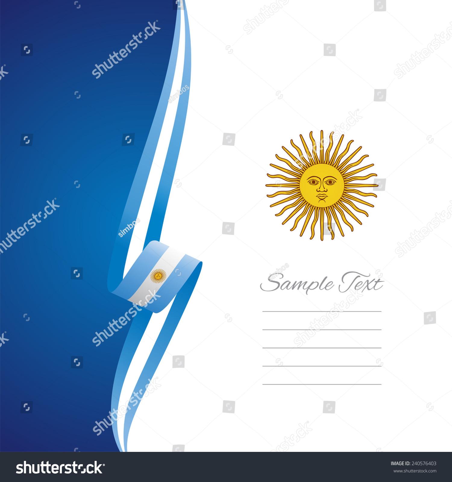 阿根廷左侧小册子封面向量-背景/素材,符号/标志-海洛