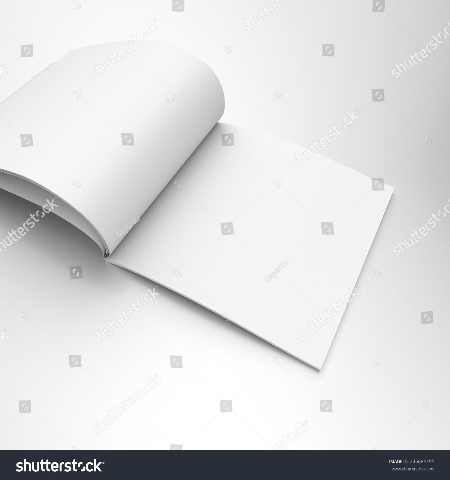 白色的空白正方形目录或杂志-背景/素材
