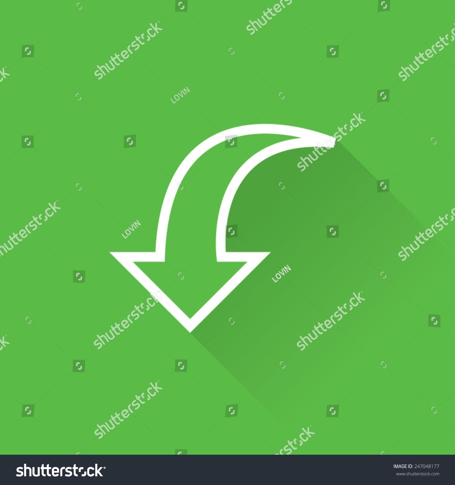 线弯曲向下箭头图标-符号/标志-海洛创意(hellorf)--.