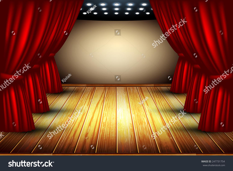 窗帘和木地板-艺术