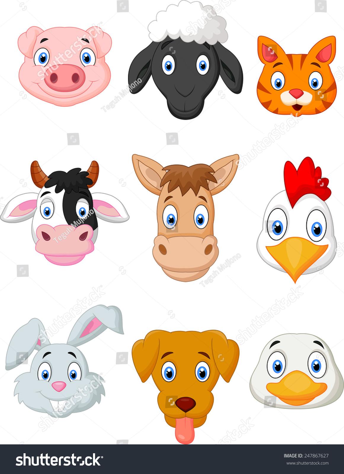 卡通农场动物组-动物/野生生物-海洛创意(hellorf)