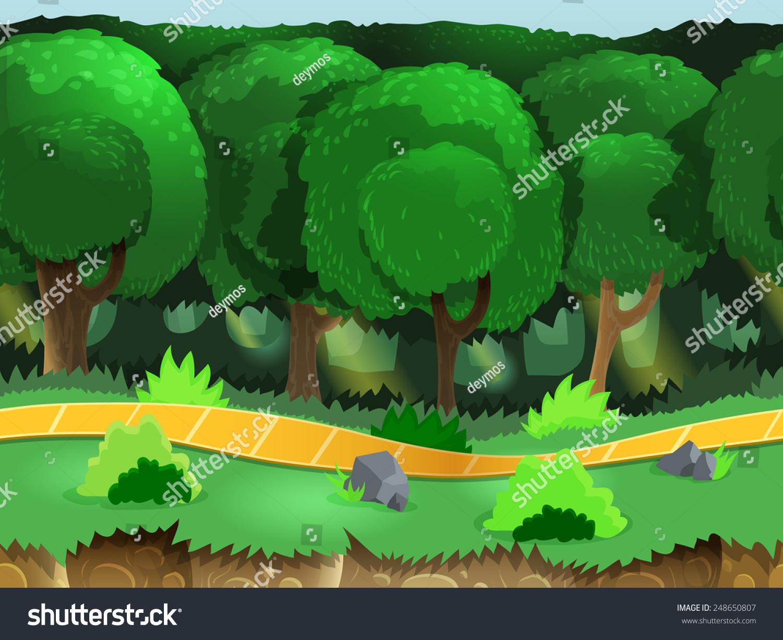 卡通灌木丛素材