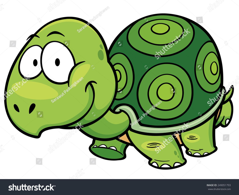 卡通龟矢量图解-动物/野生生物