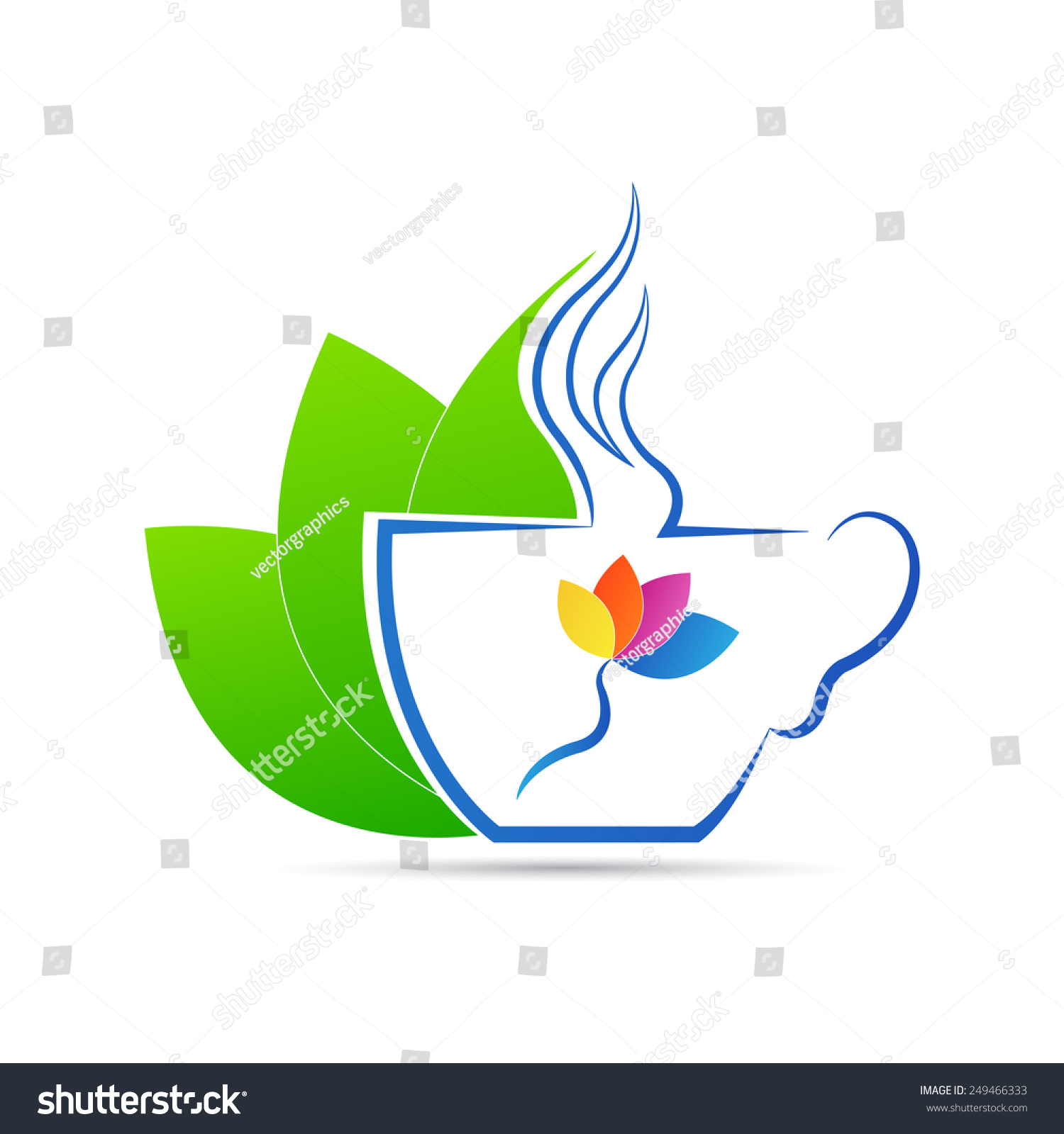 咖啡杯向量设计孤立在白色背景