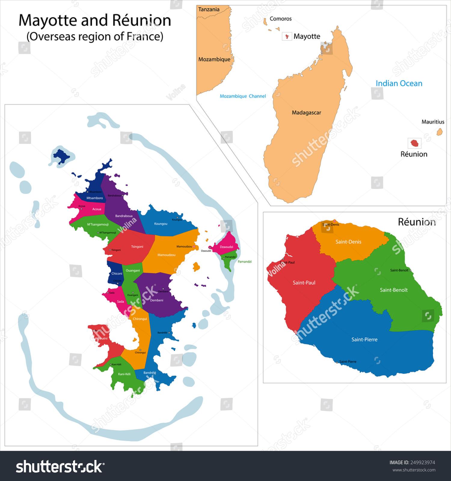 创意法国地图手绘