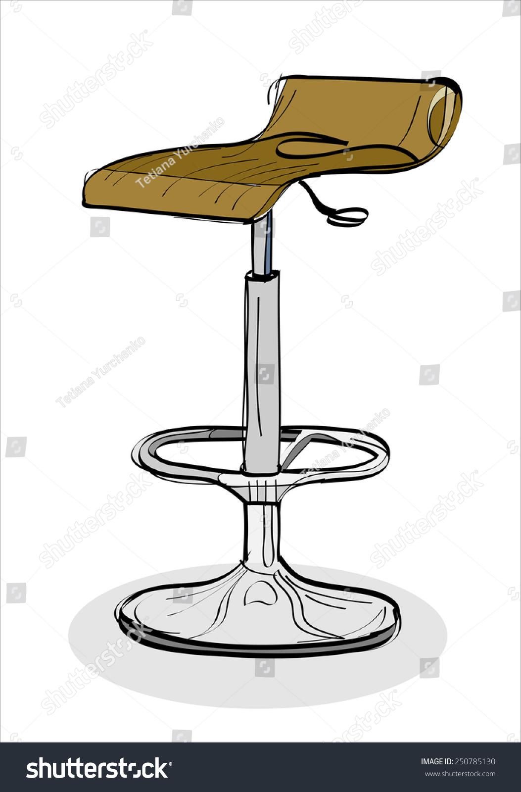 酒吧凳子-双手示意图矢量图-物体