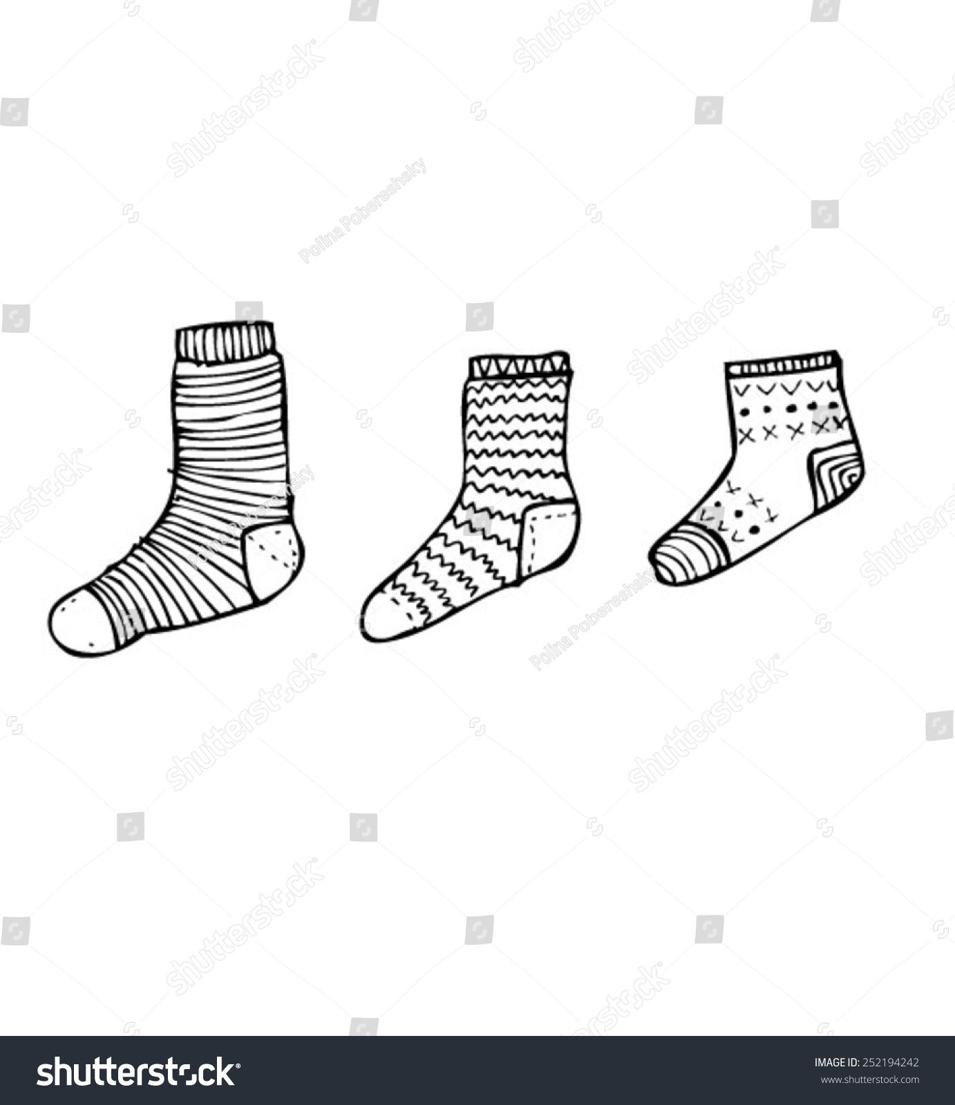 袜子设计手绘效果图