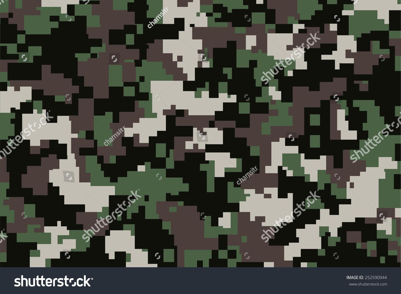 向量綠色數字camoflage模式的背景