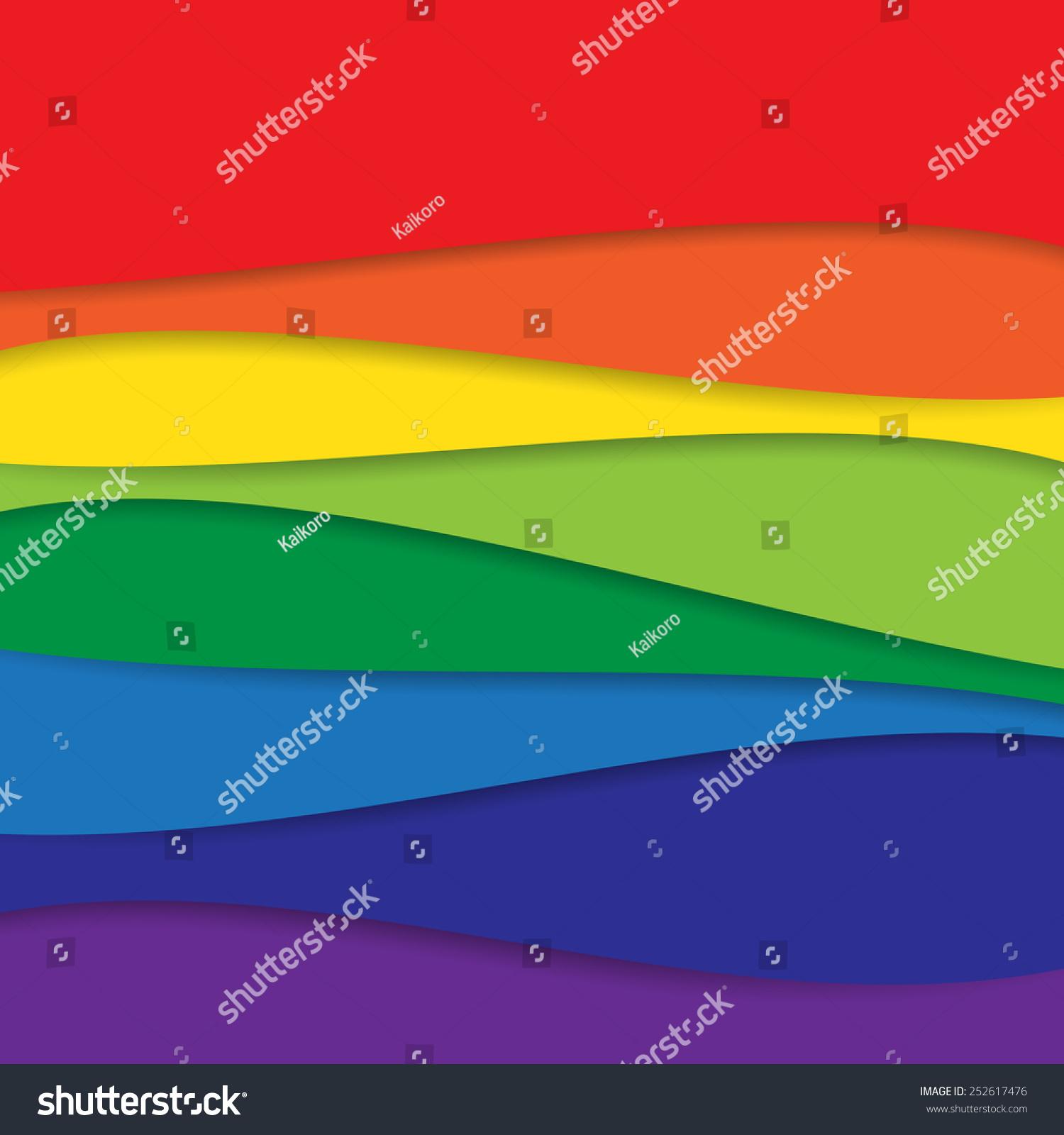 抽象的彩色彩虹bacground矢量插图-背景/素材