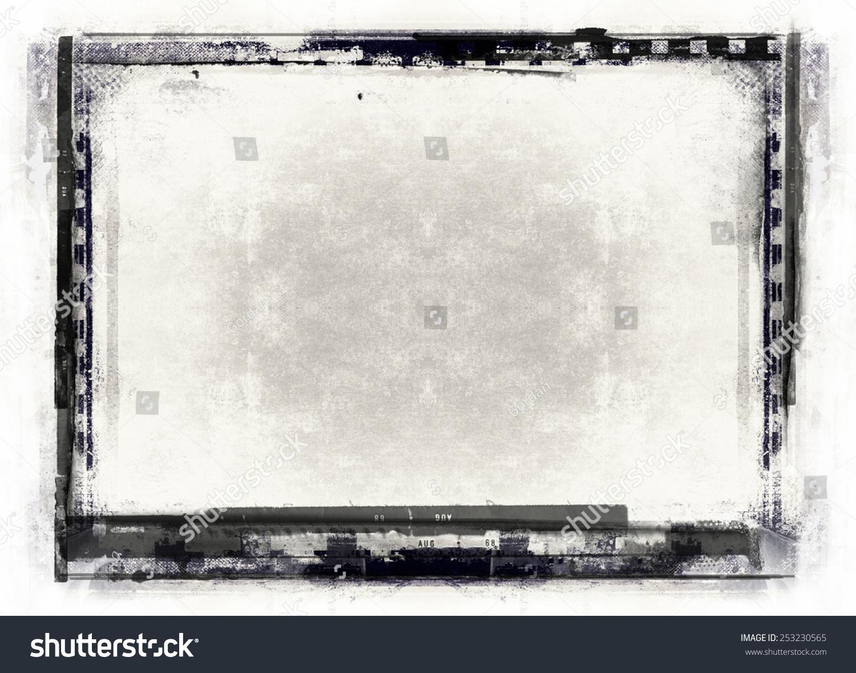 黑白简约边框书