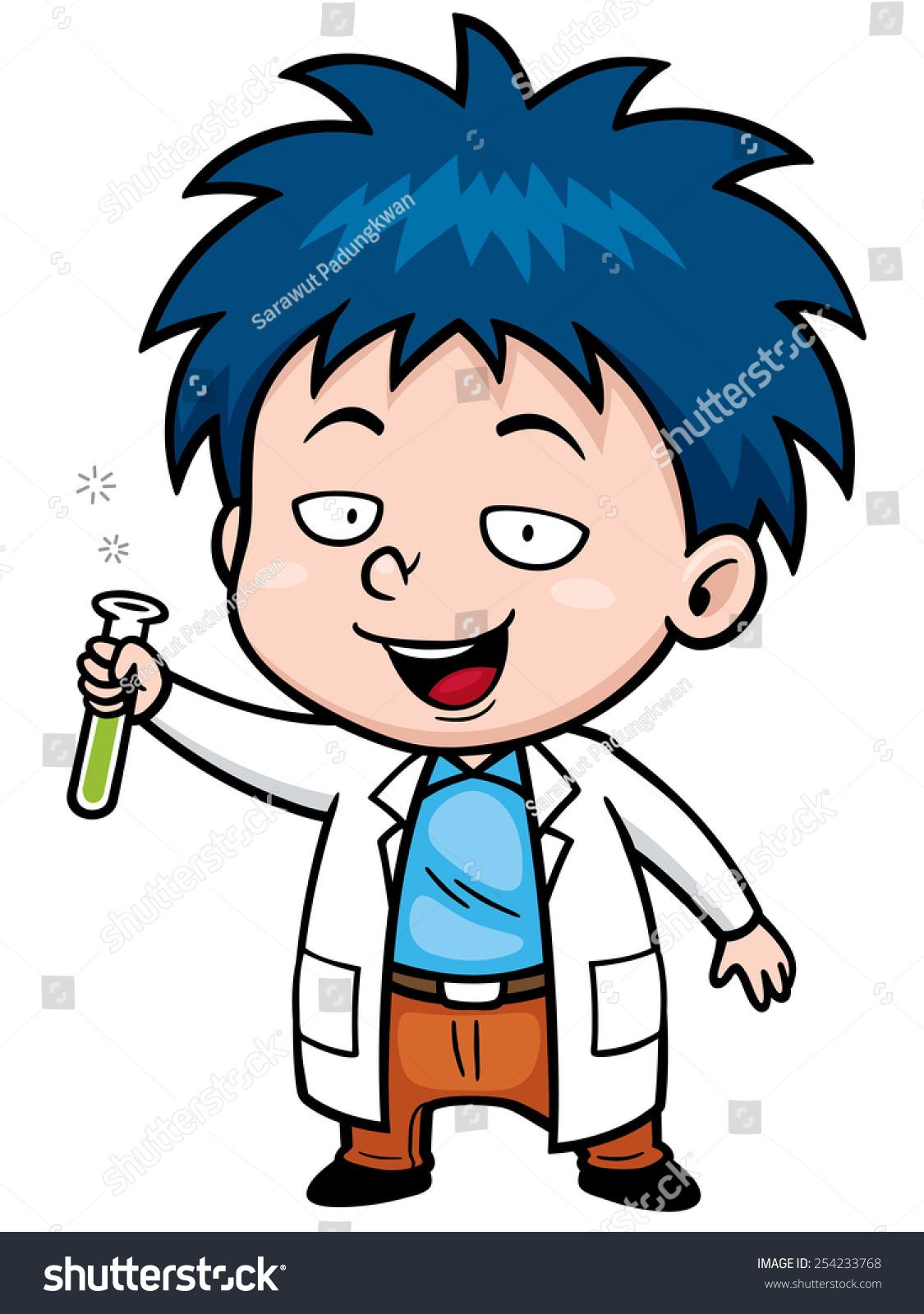 矢量插图漫画的科学家-人物,科学-海洛创意(hellorf)