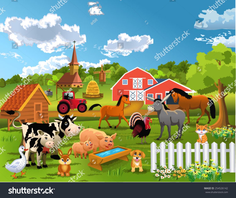 农场动物-动物/野生生物