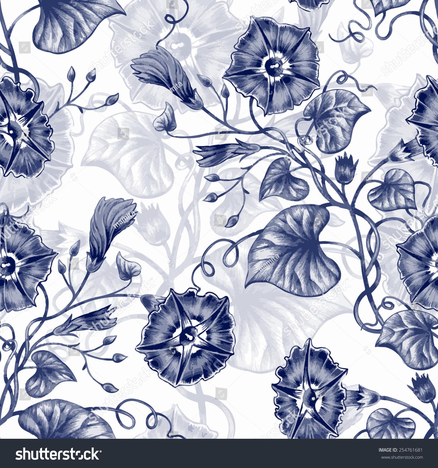 设计面料,纺织品,纸张,壁纸,网络.旋花类.复古.复古风格.