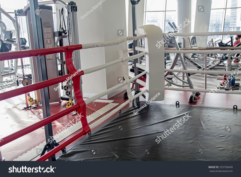 在健身房里的拳击场-背景/素材,运动/娱乐活动-海洛()
