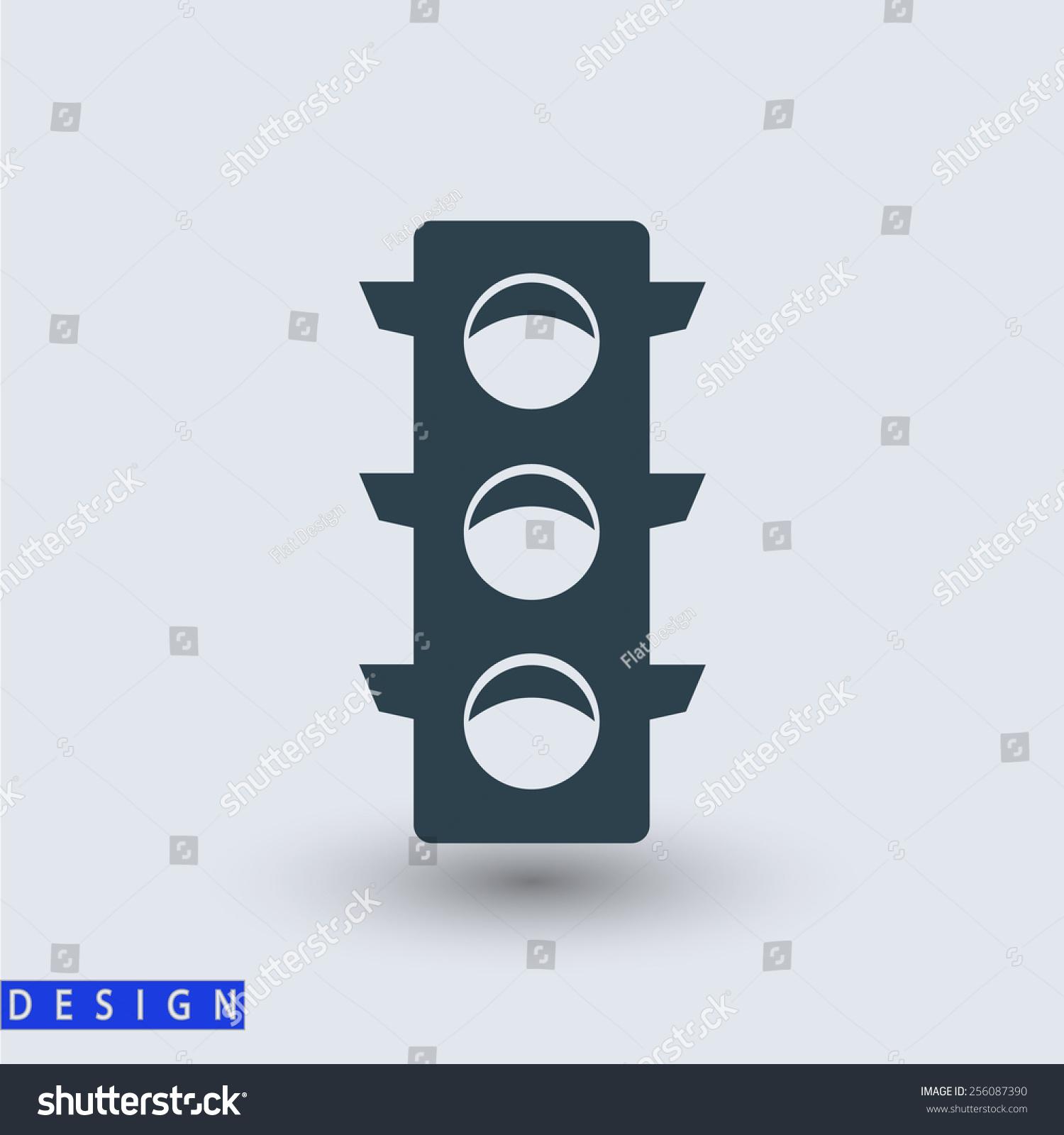 交通灯图标,矢量图.平面设计风格-科技,符号/标志-()