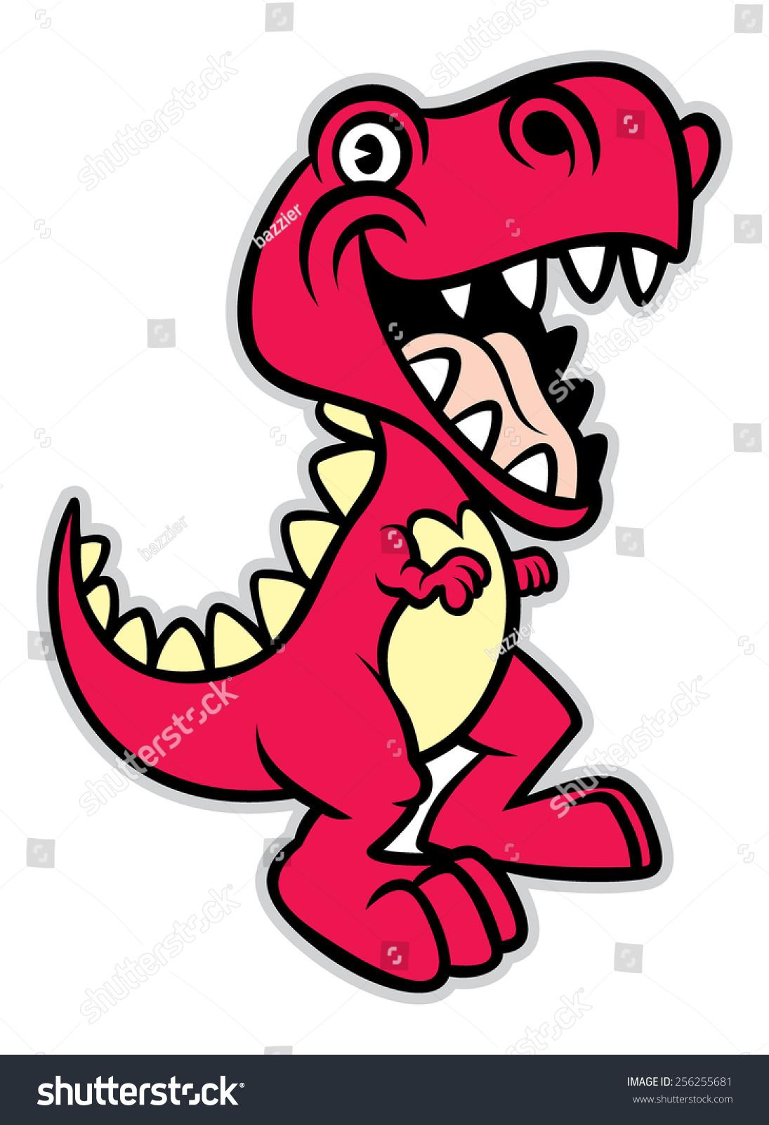 可爱的卡通霸王龙恐龙-动物/野生生物-海洛创意()-合.