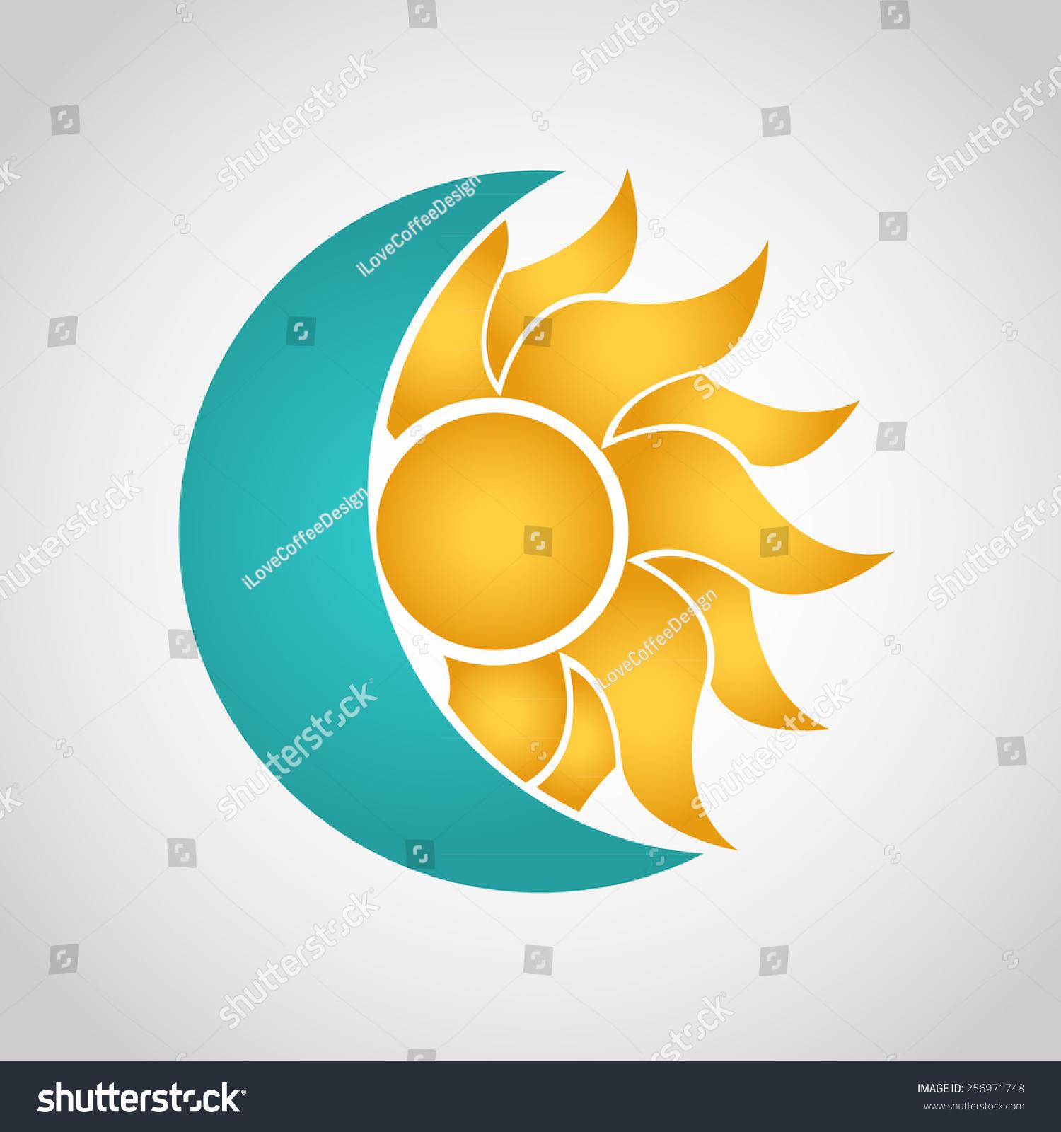 太阳和月亮的标志.摘要矢量图-自然,符号/标志-海洛()