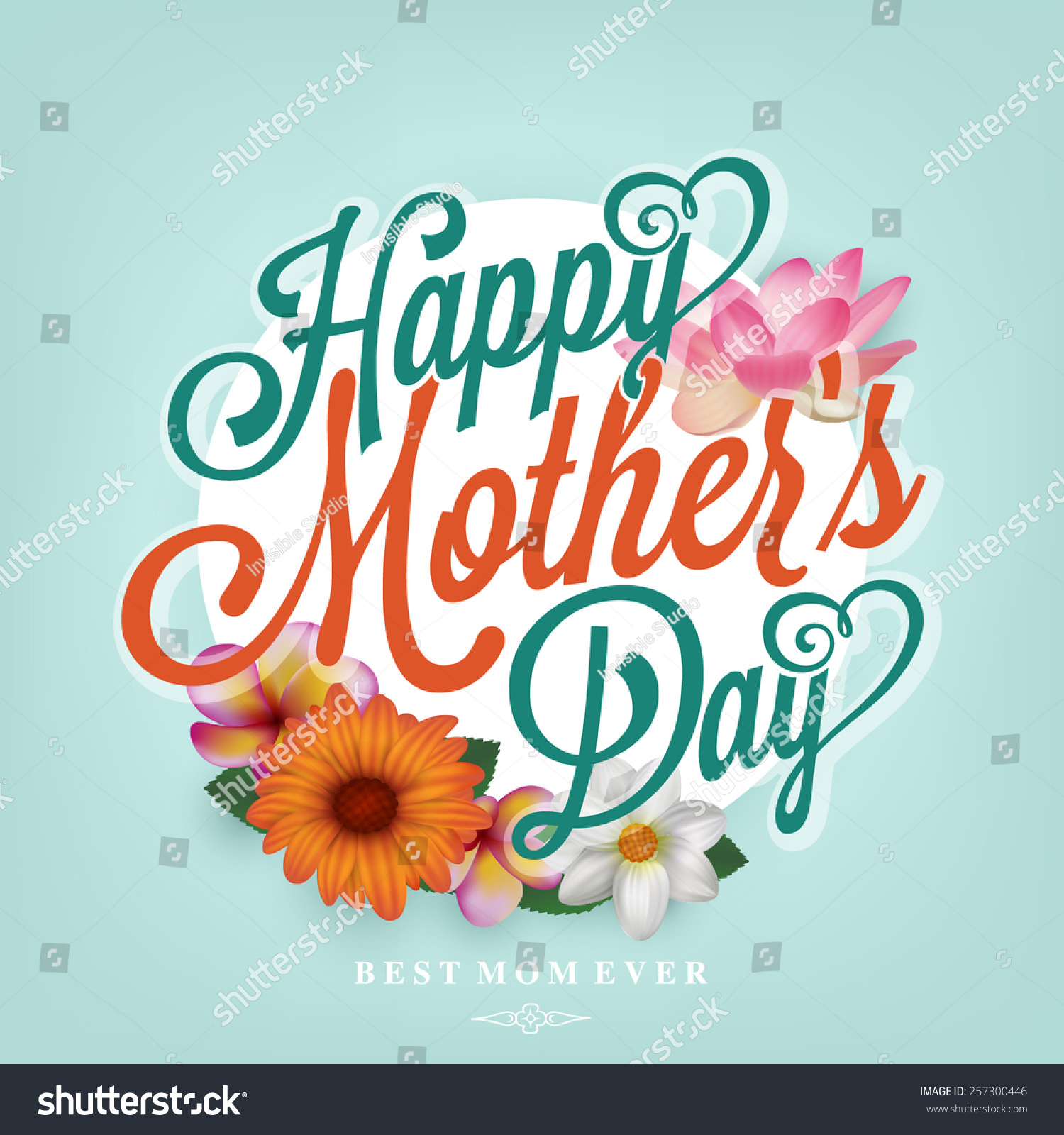 母亲节快乐印刷背景,美丽的春天的花朵