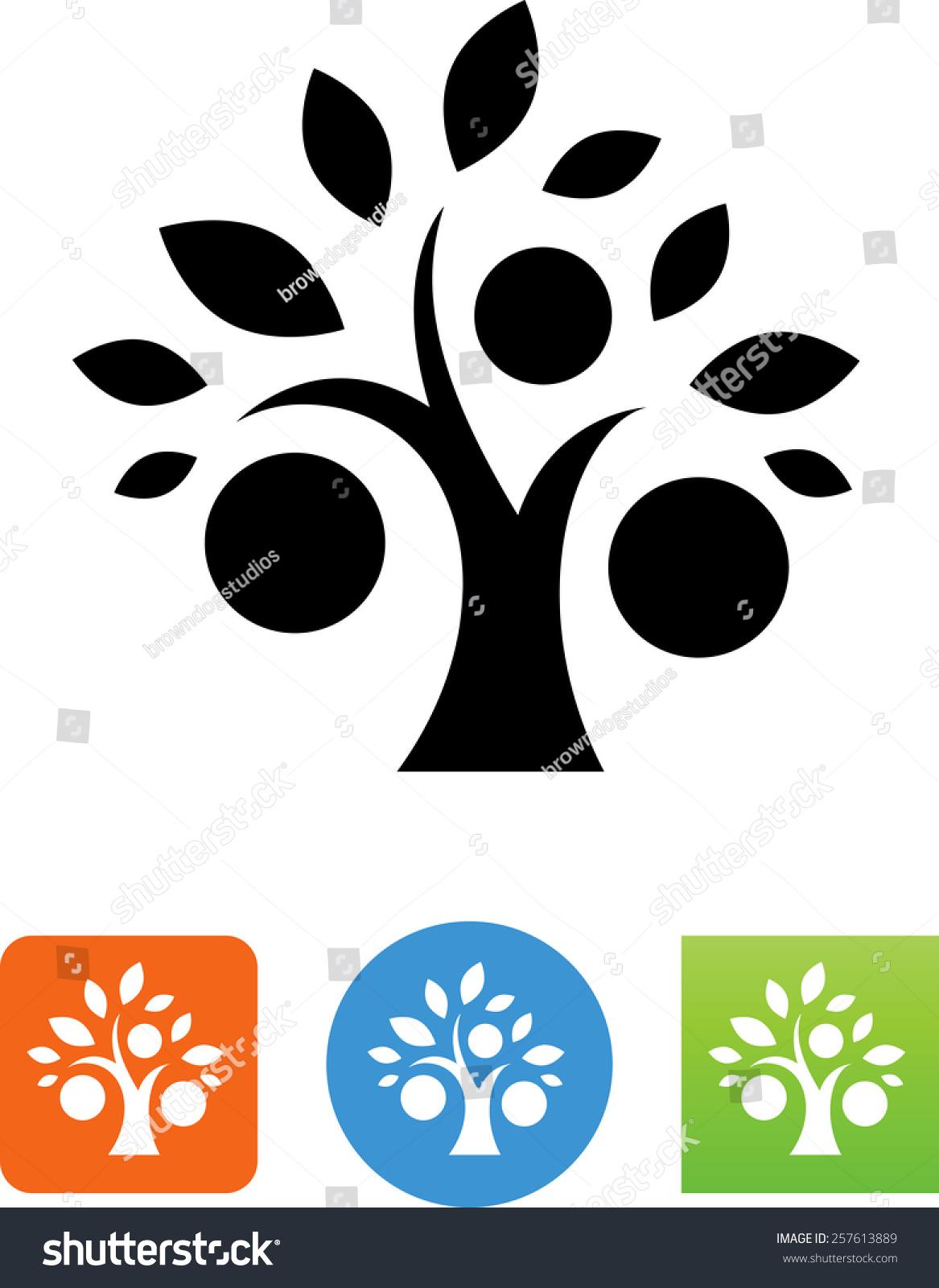 果树下载的象征.矢量图标为视频,移动应用程序,网站和