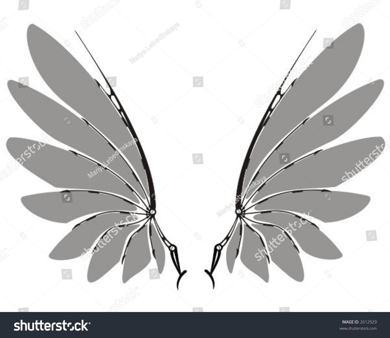 灰色机械翅膀-插图/剪贴图-海洛创意(hellorf)-中国-.