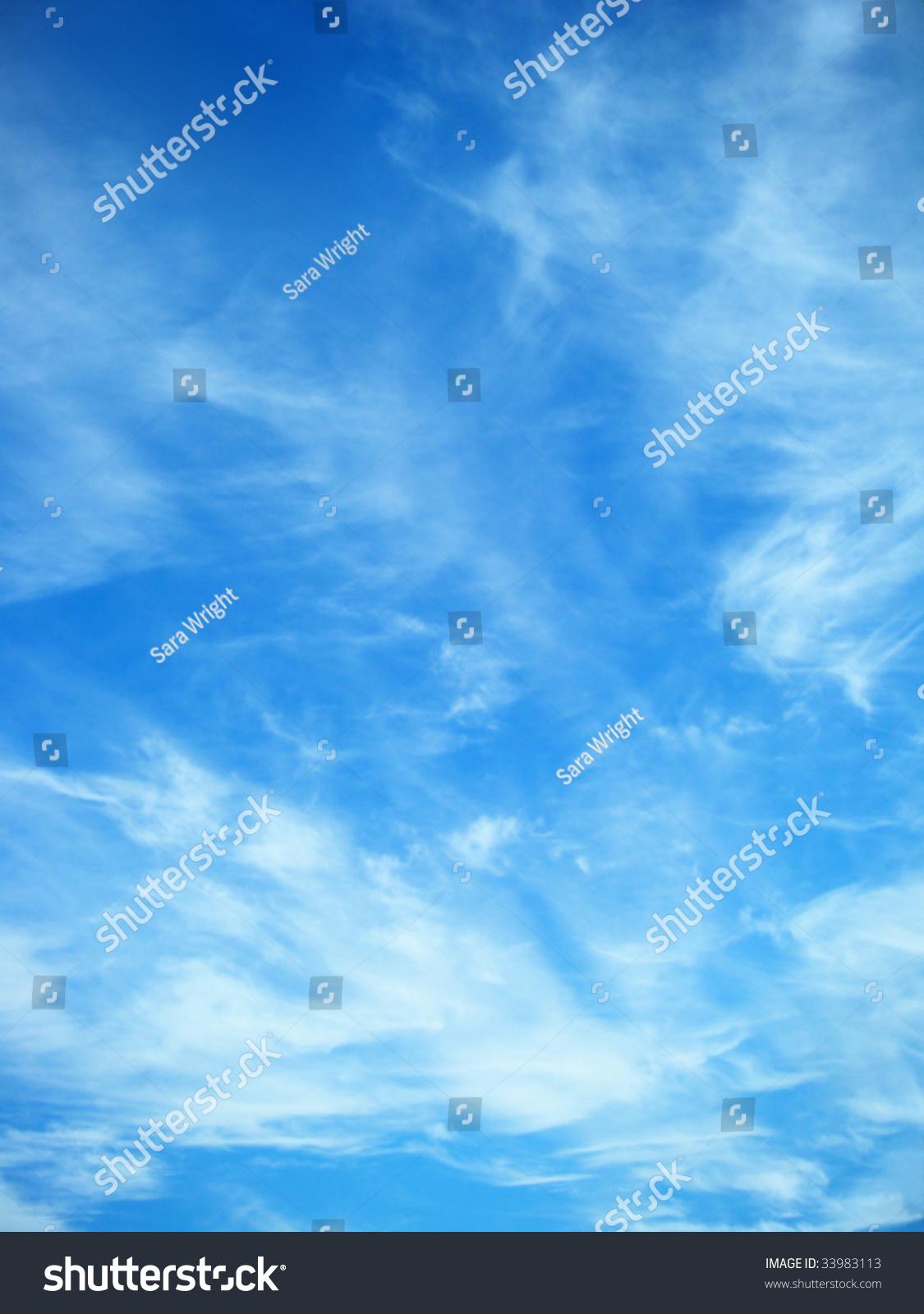 蓝色的天空-背景/素材