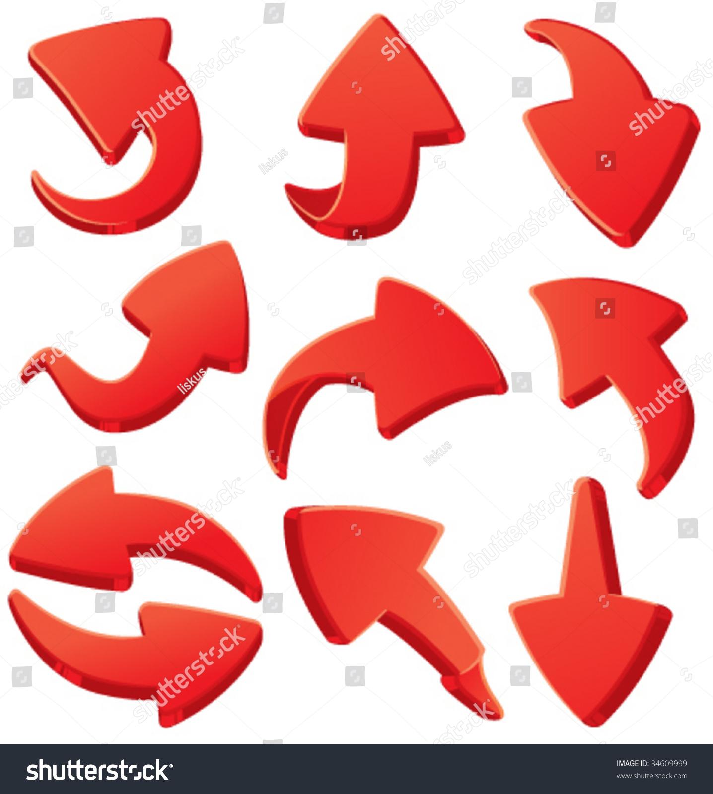 红色箭头3 d-插图/剪贴图,符号/标志-海洛创意()-中国