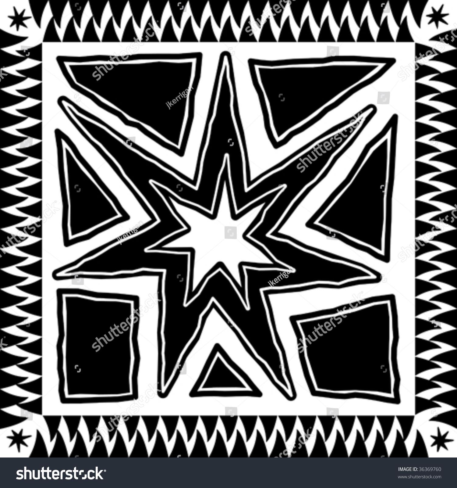 向量背景阿兹特克风格符号设计