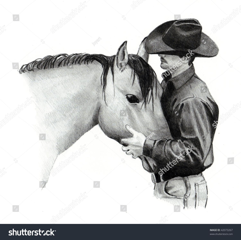 素描动物马的画法步骤图片