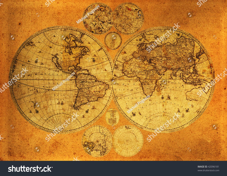 老纸世界地图,亚美尼亚.
