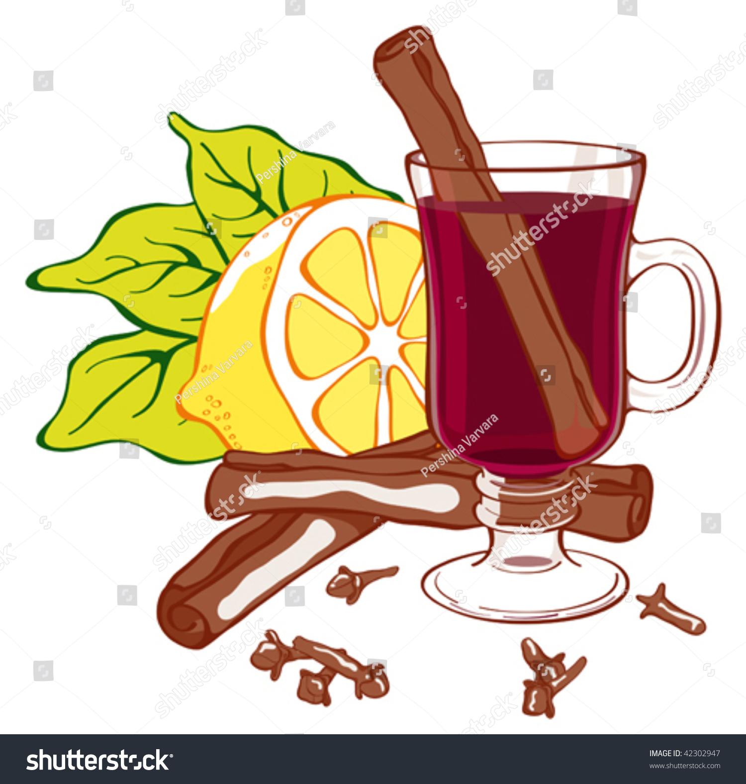 加香料的热葡萄酒说明。容易编辑。玻璃、柠檬、丁香和肉桂都单独分组在不同的层。 - 食品及饮料,插图/剪贴图 - 站酷海洛创意正版图片,视频,音乐素材交易平台 - Shutterstock中国独家合作伙伴 - 站酷旗下品牌