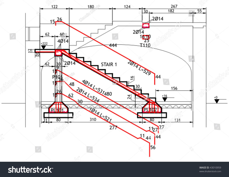 钢筋混凝土结构楼梯结构图-插图/剪贴图