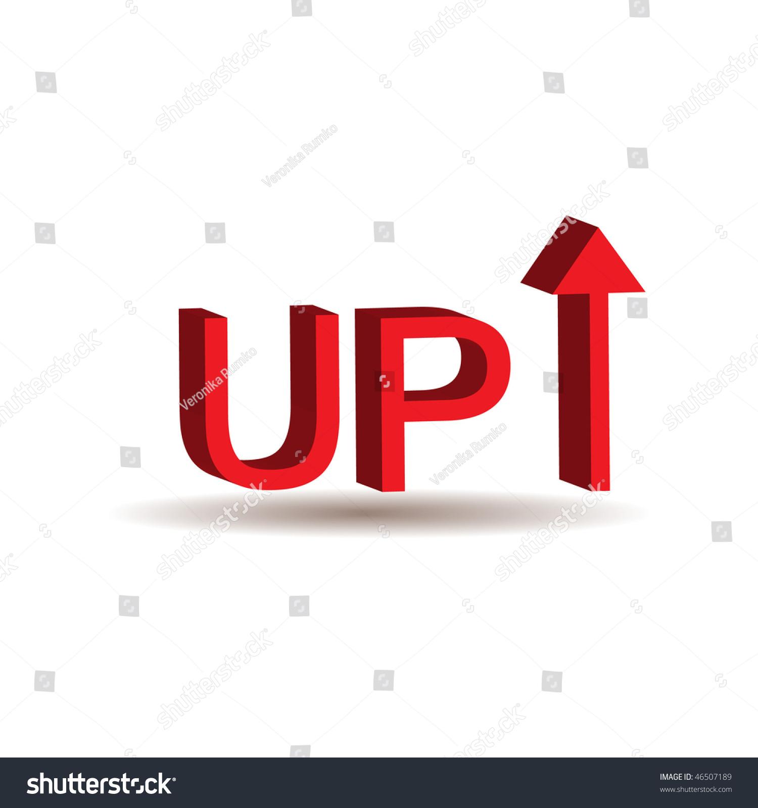 红色的3 d与箭头符号-插图/剪贴图,符号/标志-海洛()