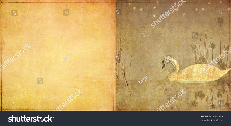 可爱的插图由动物和植物的生命和空间的文本-背景