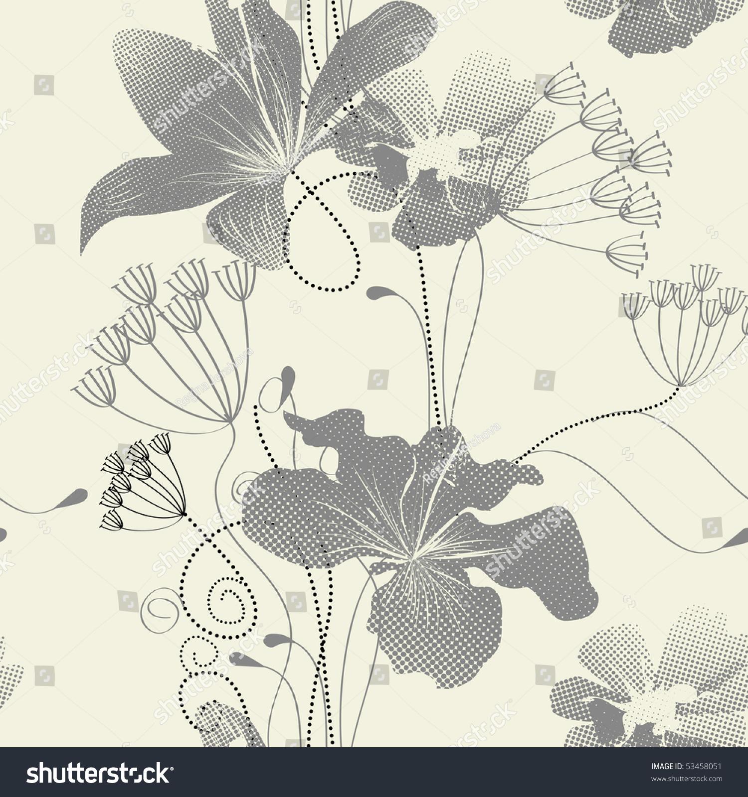 简单花卉手绘t恤
