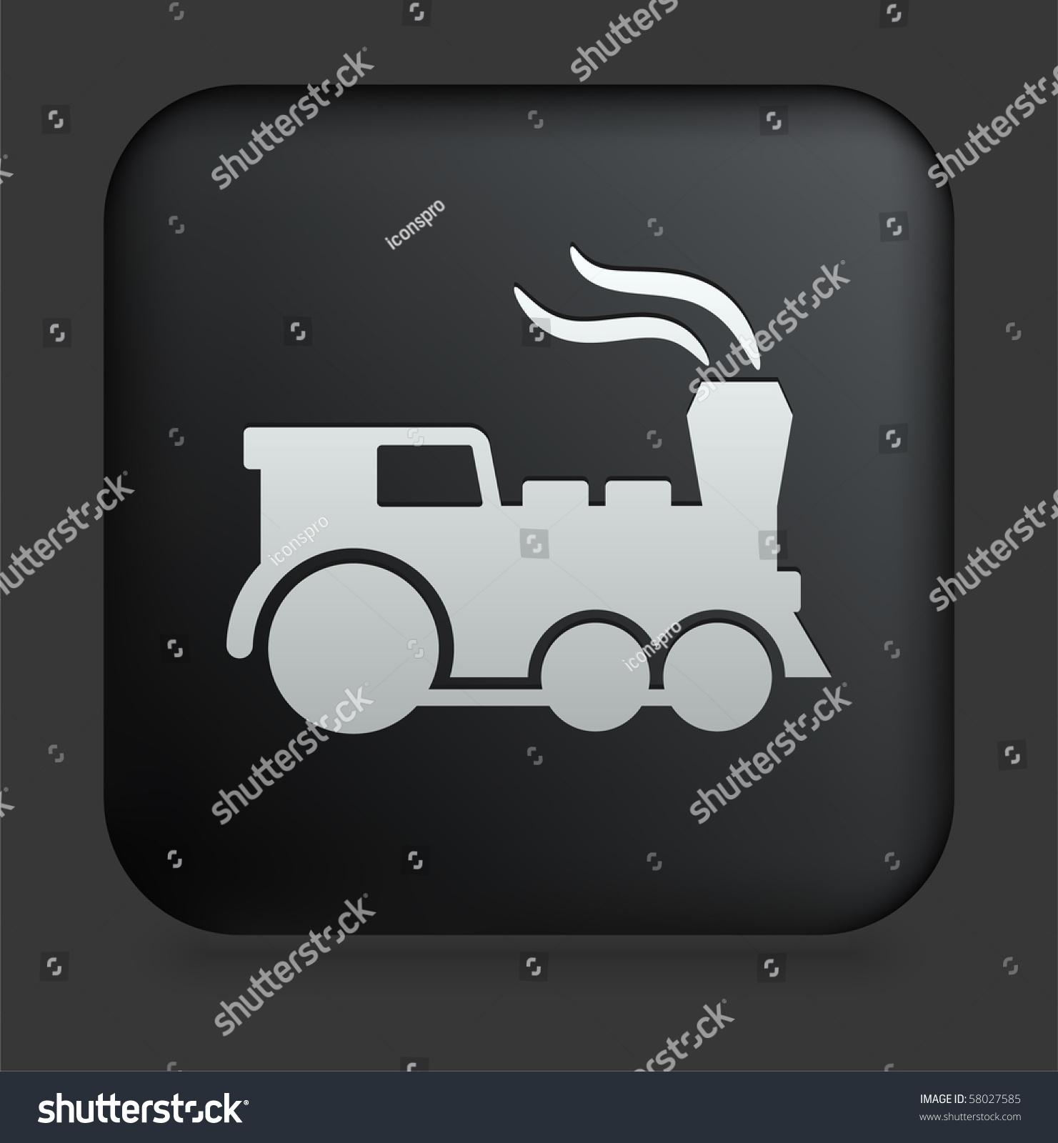 互联网上广场黑色机车图标按钮原始插图-交通运输,/图