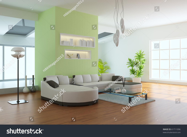 客厅与现代风格.三维渲染