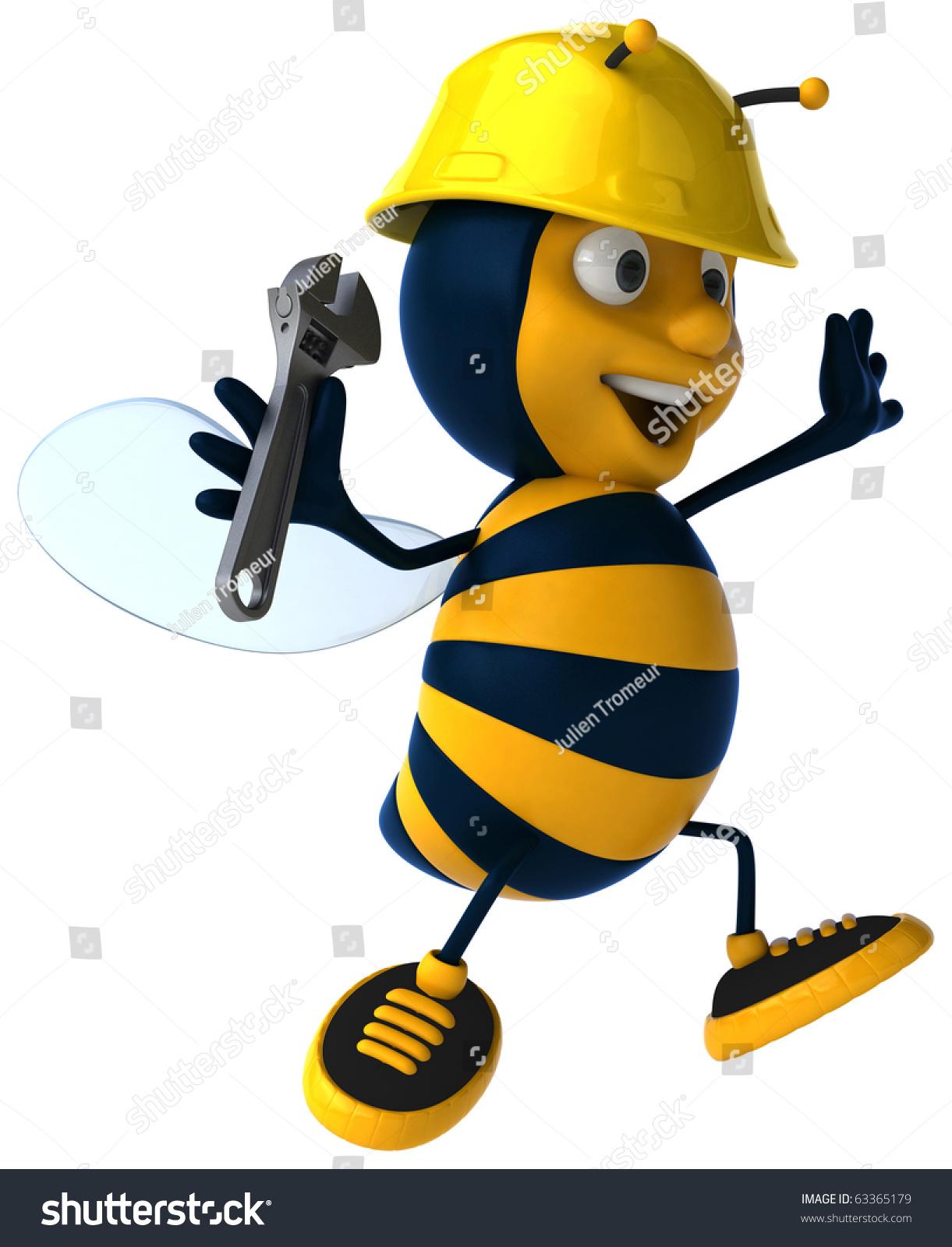 有趣的蜜蜂-动物/野生生物,插图/剪贴图-海洛创意()-.