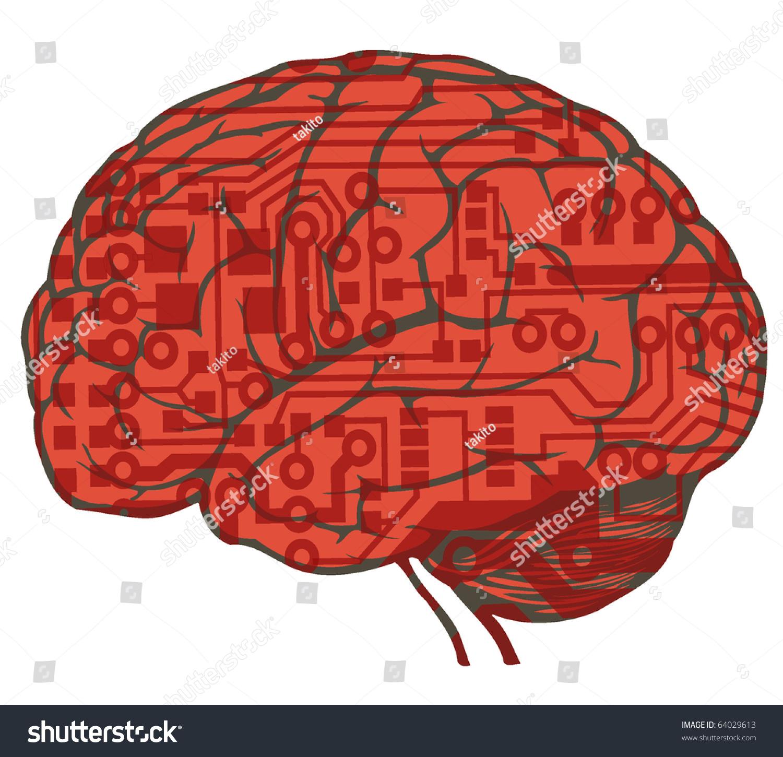电路板绘制人脑-医疗保健