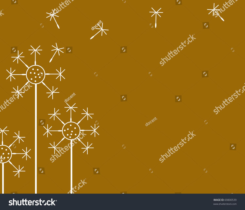 美丽的鲜花生长在一个棕色的背景-背景/素材,插图/图