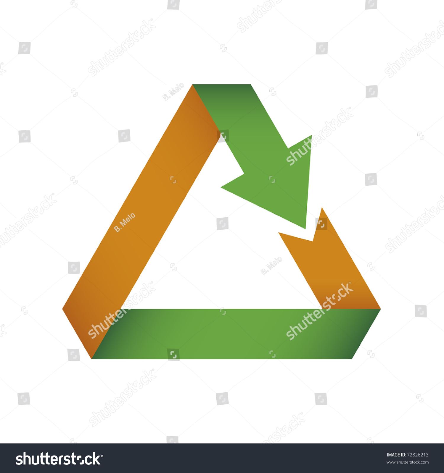 矢量图的三角箭头折叠本身-插图/剪贴图,符号/标志-()图片