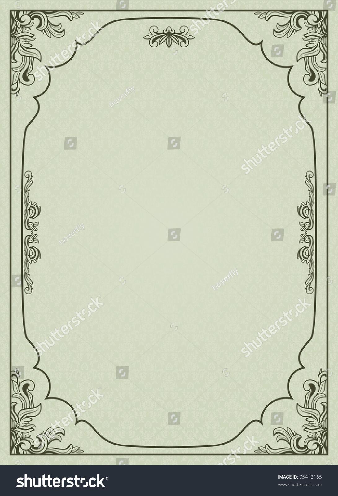 a4竖版目录边框背景