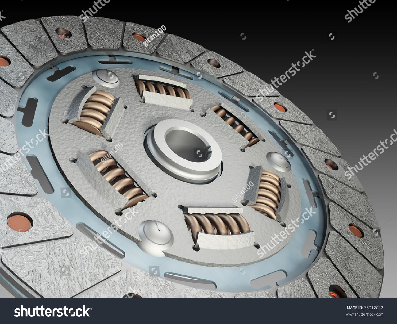 离合器压盘-科技,插图/剪贴图-海洛创意(hellorf)